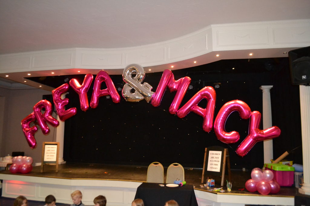 We can provide foil balloons as an optional extra. They're a great way to enhance your children's party.